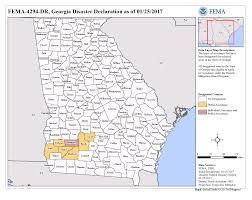 Fema Map Georgia Severe Storms Tornadoes And Straight Line Winds Dr 4294