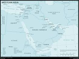 Map Of Western Asia by Western Asia U2022 Mapsof Net