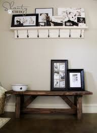 Entry Way Bench And Shelf Diy Bench For The Entryway 15 Shanty 2 Chic