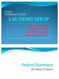 objectives of cash flow statement feasibility studies laundry shop washing machine clothing