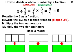 dividing a whole number by a fraction how to multiply a whole number by a fraction ppt