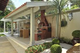 contemporary decorating backyards ideas with outdoor kitchen and