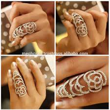 fashion long rings images Wholesale american diamonf full finger rings online buy full jpg