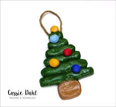 salt dough tree ornaments dahl teaching