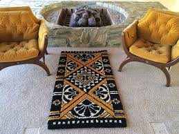 Black Gold Rug Wool Black And Gold Rug More Elegant Looked With Black And Gold