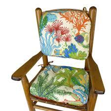 child rocking chair cushions splish splash tropical fish