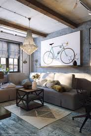 Grey Living Rooms by Cozy Industrial Living Room Design In Grey Tones Digsdigs