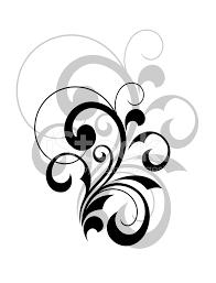 Stylish Design Stylish Swirling Calligraphic Design Element Stock Photos