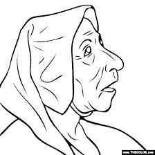 pieter bruegel elder portrait woman coloring