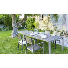 Carrefour Table Pliante by Carrefour Table Honfleur Aluminium Gris 160cm X 75cm X 100cm