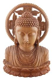 wholesale brown lord buddha sculpture in kadam wood u2013 9 u201d hand