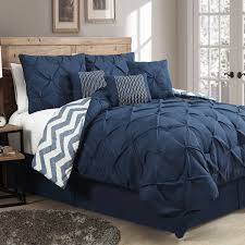 Polyester Microfiber Comforter Bedding Handsome Queen Sweet Navy White Comforter Set Machine