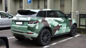 land rover camo la range rover evoque in stile camouflage