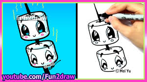 how to draw marshmallows cute u0026 easy youtube