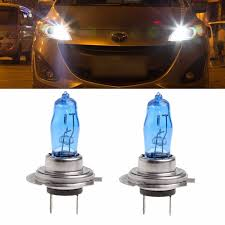 Gas Light Bulbs 2 Pcs H7 6000k Gas Halogen Headlight White Light Lamp Bulbs 100w