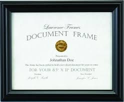 document frame simple black diploma frame