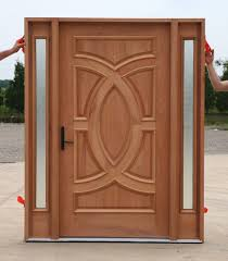 Doors Custom Front Doors Single Custom Frosted Glass Front Doors With