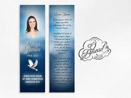 memorial bookmarks 25 best funeral bookmarks signets éraires images on