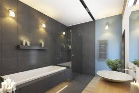 modren modern master bathrooms with wall sconce rain shower