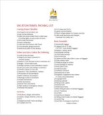 packing list template u2013 10 free sample example format download
