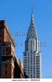 the chrysler building on 42nd street in new york city stock photo