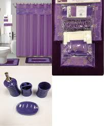 amazon com 22 piece bath accessory set purple flower bath rug set amazon com 22 piece bath accessory set purple flower bath rug set shower curtain accessories home kitchen