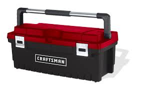 tool box craftsman 26 toolbox with tray black red shop your way online