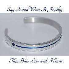 bracelet with hearts images Thin blue line with hearts say it and wear it jewelry jpg
