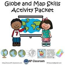 globe and maps worksheet globe and map skills activity packet and worksheets