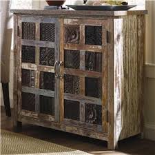 Classic Home Vintage Reclaimed Wood MultiColor Glass Panel - Classic home furniture reclaimed wood
