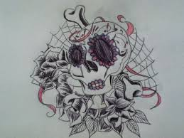 girly skull tattoo idea by scribbleduck on deviantart