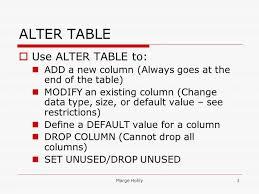 alter table modify column alter table drop table rename 3 marge superb alter table modify