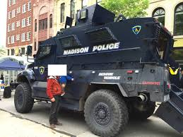 police armored vehicles madison police rescue vehicle on the capitol square today madisonwi