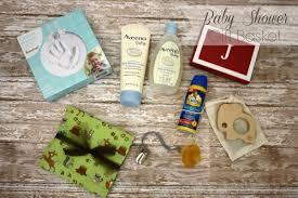 baby shower gift basket anchored
