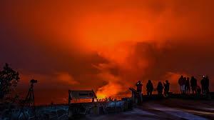 Wildfire Casino On Sunset by Volcano Watchers In Hawaii Trekked Dangerously Close To Kilauea U0027s