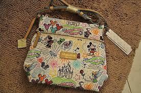 new w tags disney dooney bourke sketch cross body purse letter