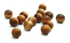 wooden balls may mango papaya scented wooden balls x 15