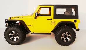 jeep rubicon yellow scale truck kit 2016 mex jeep jk 1 10 offroad 2d yellow