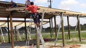 how to install lean to u0027s on a 20x40 steel truss pole barn kit
