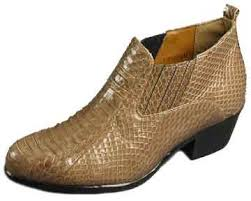 leathercoatsetc mens snakeskin ankle boots