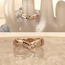 14k gold diamond v shaped ring favery estate jewelry lysbeth antiques and estate jewelry