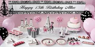 cing birthday party pink 13th birthday party supplies party city