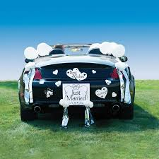 car just married wedding car decoration kit 2175483 weddbook