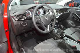 opel astra interior 2017 opel astra interior at the 2016 geneva motor show indian autos blog