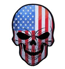 Embroidered American Flag Patriotic American Flag Skull Embroidered Biker Patch U2013 Quality
