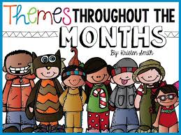 kindergarten themes free calendar with suggested themes and blank