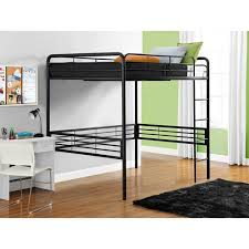 full metal loft bed black with spa sensations 6 u0027 u0027 memory foam