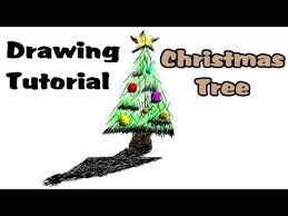 drawing tutorial for kids how to draw a christmas tree step by