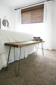 two points for honesty diy rustic mid century modern bench