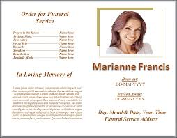 Funeral Pamphlet Ideas Funeral Service Template Two Free Funeral Service Templates From